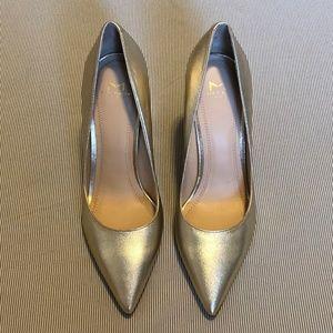 Marc Fisher Gold Jenny Heels
